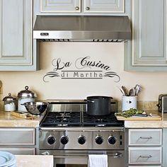 La Cucina di Martha wall decal is perfect for an Italian theme kitchen!
