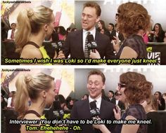1. She speaks the truth hahaha. 2. His face in the second one! 3. I'm pretty sure she just got Loki'd in a way hahaha.
