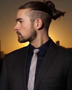 I'm gonna try to get this hair style. Samurai/Nordic inspiration