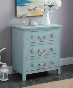 Another great find on #zulily! Blue Seashell Three-Drawer Chest by Coast to Coast #zulilyfinds