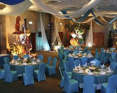 Wedding Dinner setup under the Sea theme by Weddings Pics OmniCancun, via Flickr