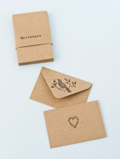 Small brown envelopes / Papermash
