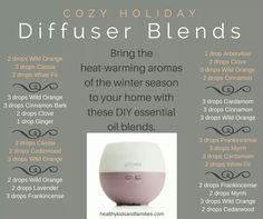 Cozy Holiday diffuser blends Get a free e-book here: http://april.naturalsolutionspro.com/