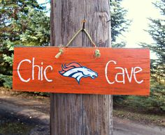 Yes!!!!!  DENVER BRONCOS Hand Painted Barn Wood Sign Sports by JunkWorxxEtc,