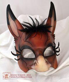 Leather Midsummer Night's Dream Bottom Donkey Mask by PlatyMorph