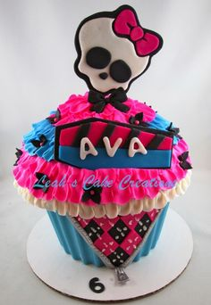 monster high giant cupcake...my daughters would totally luv this