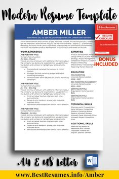 1 Page Resume Inspiration 63 Best One Page Resume Templates Images On Pinterest  Teacher .