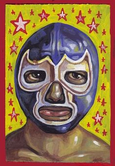 "Mexican art of ""El Luchador"" Mexican Tiles, Mexican Folk Art, Mexico People, Parts Unknown, Mexican Heritage, Aztec Art, Little Bit, Old Maps, Arte Pop"