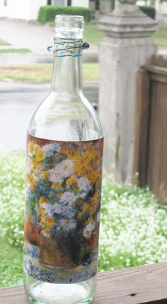 Renoir Wine Bottle.  This is an upcycled bottle  by UponASunnyDay, $12.00