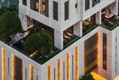 XXXIX   Wison Tungthunya & W Workspace Tower Design, Roof Design, House Design, Breezeway, Condominium, Facade, Architecture Design, Mansions, Landscape