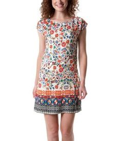 Robe femme imprimée multicolore - Promod