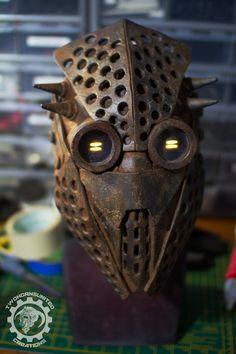 Trypophobia wasteland raider mask by TwoHornsUnited