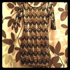 New Windsor Black And Gold Dress