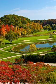 Oakville Ontario Glenn Abby Golf Course in Fall