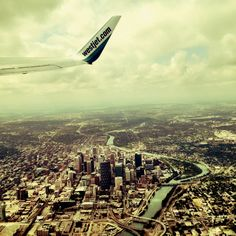 Amazing photo of downtown Calgary taken from the air! I Love my city! Calgary, Travel Quotes, Airplane View, Places Ive Been, Cool Photos, Skyline, Live, Amazing