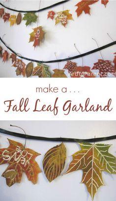 Make a Beautiful Fall Leaf Garland