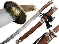 Handmade Damascus Chinese Qing sword