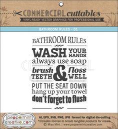 COMMERCIAL Vectors - Bathroom Rules
