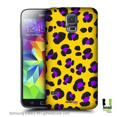Head Case Designs Yellow Leopard Mad Prints Hard Back Case Samsung Galaxy S5