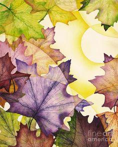 Spring Maple Leaves Painting  - Spring Maple Leaves Fine Art Print