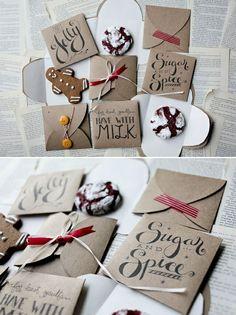 Weihnachtskarten selber basteln niedlich