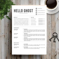 Professional Resume Template / CV Template + Cover Letter | Creative and Modern Resume | Teacher Resume | Word Resume | Instant Download by NimbuzStudio on Etsy