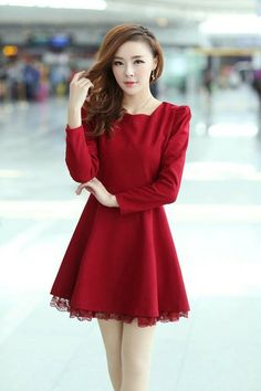 Womens Slim Korean Fashion Solid Woolen Lace String Dress카지노사이트 ═∞▶ ASIANKASINO.COM ◀∞═ 카지노사이트카지노사이트카지노사이트카지노사이트