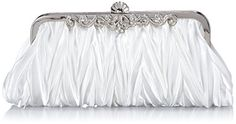 Bundle Monster Womens Vintage Satin Cocktail Party Handbag w/Shoulder Chain-WHITE Bundle Monster http://www.amazon.com/dp/B00BCRKTPG/ref=cm_sw_r_pi_dp_WUVIvb0W1SAWW