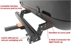 Rola Swinging Enclosed Cargo Carrier for Trailer Hitch Rola Hitch Cargo Carrier 59109 Ute Camping, Camping Gear, Rv Travel Trailers, Nuevas Ideas, Diy Rv, Camping Products, 5th Wheels, Trailer Hitch, Tents