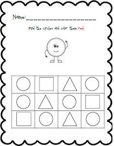 Shape and Color Practice Shapes Worksheet Kindergarten, Shapes Worksheets, Numbers Preschool, Preschool Activities, Black Bee, Head Start, Coloring Pages, Homeschool, Projects To Try