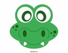 Alligator Mask Templates Including A Coloring Page Version Of The Free Printable PDF At