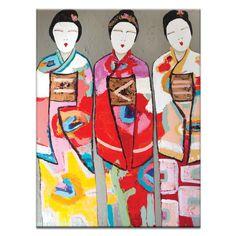 Found it at Wayfair.co.uk - 3 Geisha by Anna Blatman Art Print Wrapped on Canvas