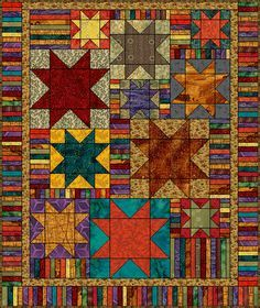 Simple Star Quilt   Blocks are made in various sizes  http://www.quilterscache.com/S/SimpleStarQuilt_Page5.html