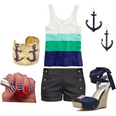nautical, created by allieduncan on Polyvore