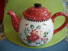 Mary Engelbreit Christmas Teapot