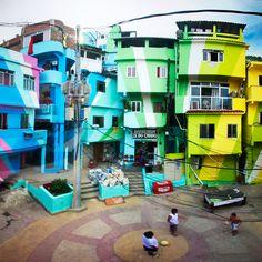 Sala7design: Favela Painting, Rio de Janeiro