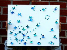 3D Butterfly Canvas Wall Art 16x20 Handmade by CheyItAintSo, $45.00