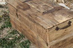 YOUR Customized Reclaimed Rustic Barn Wood Storage Chest, Coffee Table or Bench. $275.00, via Etsy.