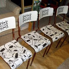 cool illustrated chairs