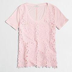 Factory lace-front T-shirt