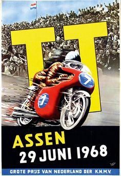 Poster by J. Otter - TT Assen.