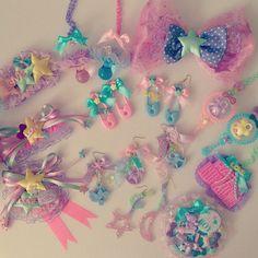 Kawaii Jewelry, Kawaii Accessories, Diy Hair Accessories, Cute Jewelry, Kawaii Room, Kawaii Girl, Kawaii Fashion, Cute Fashion, Charms Lol