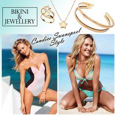 Miranda Kerr Candice Swanepoel Style, Bikini Jewelry, Miranda Kerr, My Way, Bikinis, Swimwear, One Piece, Fashion, Bathing Suits