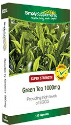 ANTIOXIDANT - Green Tea Extract 1000mg provides powerful levels of the 'active' ingredient EGCG. Supports heart health and reduces the signs of premature ageing.
