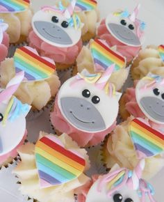I love these Mini Unicorn cupcakes. Bite size goodness.