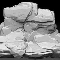 Rock Wall Sculpt by Jesse Carpenter on ArtStation.