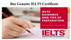 Buy Genuine IELTS Certificate From a reliable vendor. We are experts in the production of Original and registered IELTS, TEFL & DELTA Certificates.