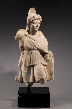 Roman, 2nd Century AD ,Roman marble Men, the ancient moon God of Anatolia