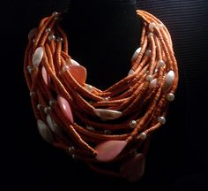 monies shell jewelry | RESERVED for Mariam - RARE Vintage Monies Necklace Gerda Lynggaard ...
