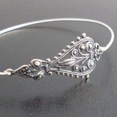 Bohemian Bangle Bracelet Maylana  Silver Gypsy door FrostedWillow, $11.95